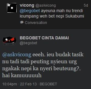 Dialog Bahasa Sunda - Begobet
