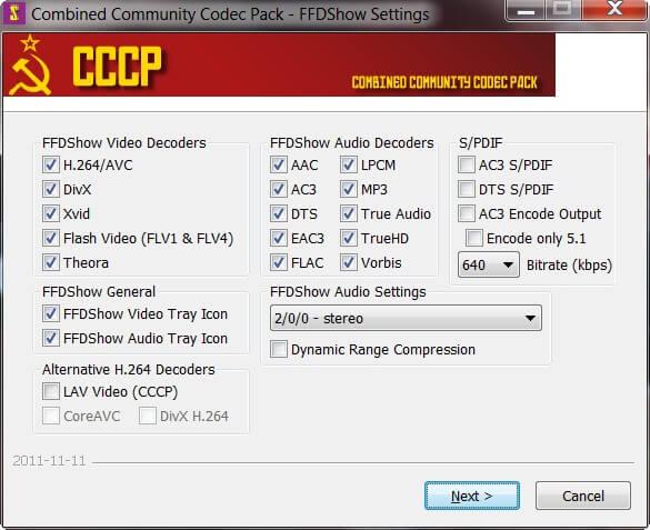 CCCP Setting Menu Interface