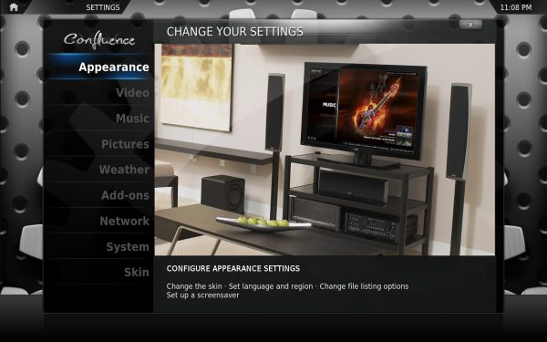 XBMC Setting Interface