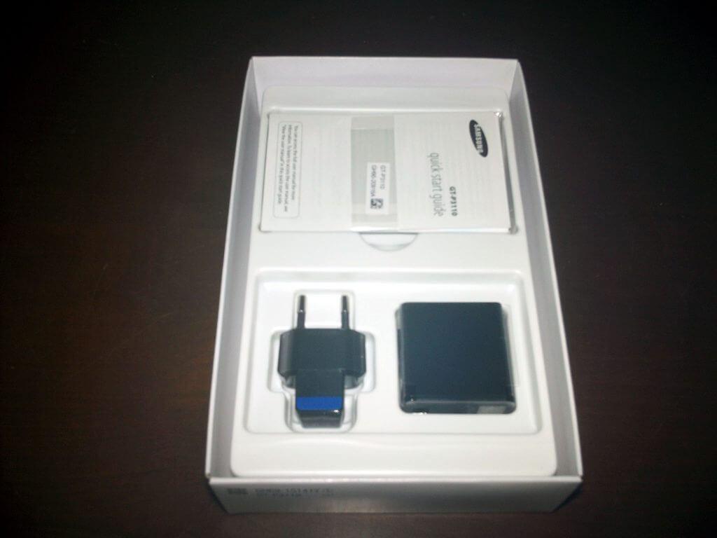 Boks kemasan Samsung Galaxy Tab 2 7.0 Wifi Only dibuka - isi kelengkapan