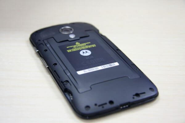 Slot baterai bagian belakang Motorola Moto-G