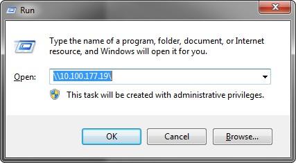 langkah 1 Menu Run - map network drive