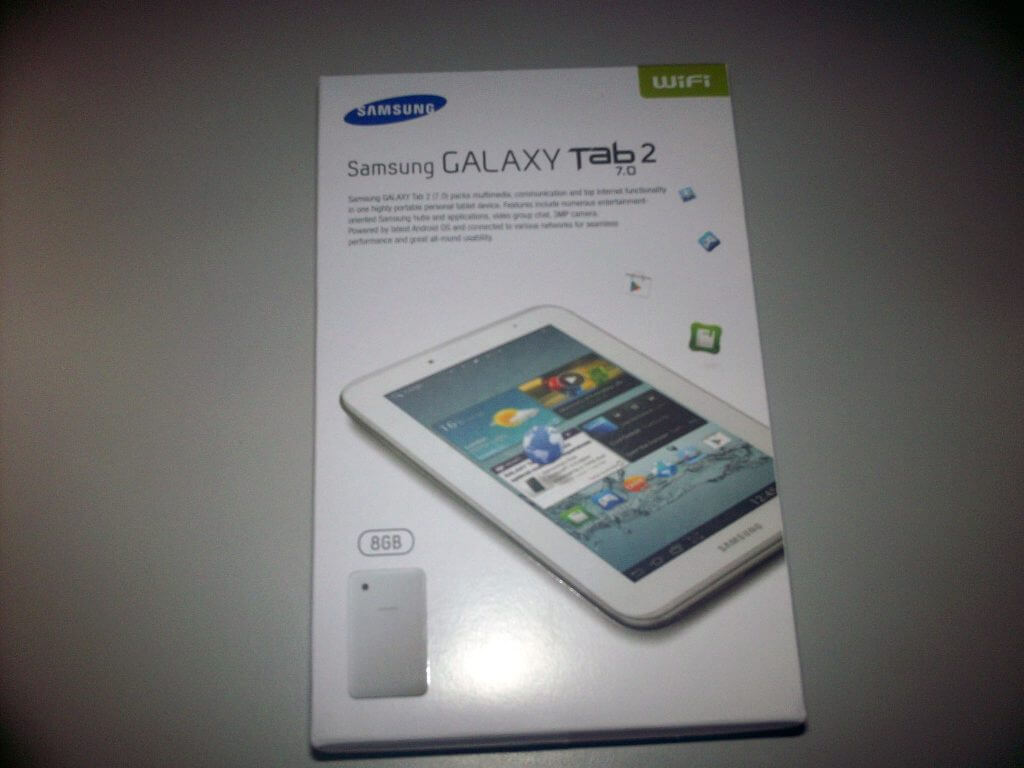 Box kemasan Samsung Galaxy Tab 2 7.0 Wifi-only dari Bhinneka.com