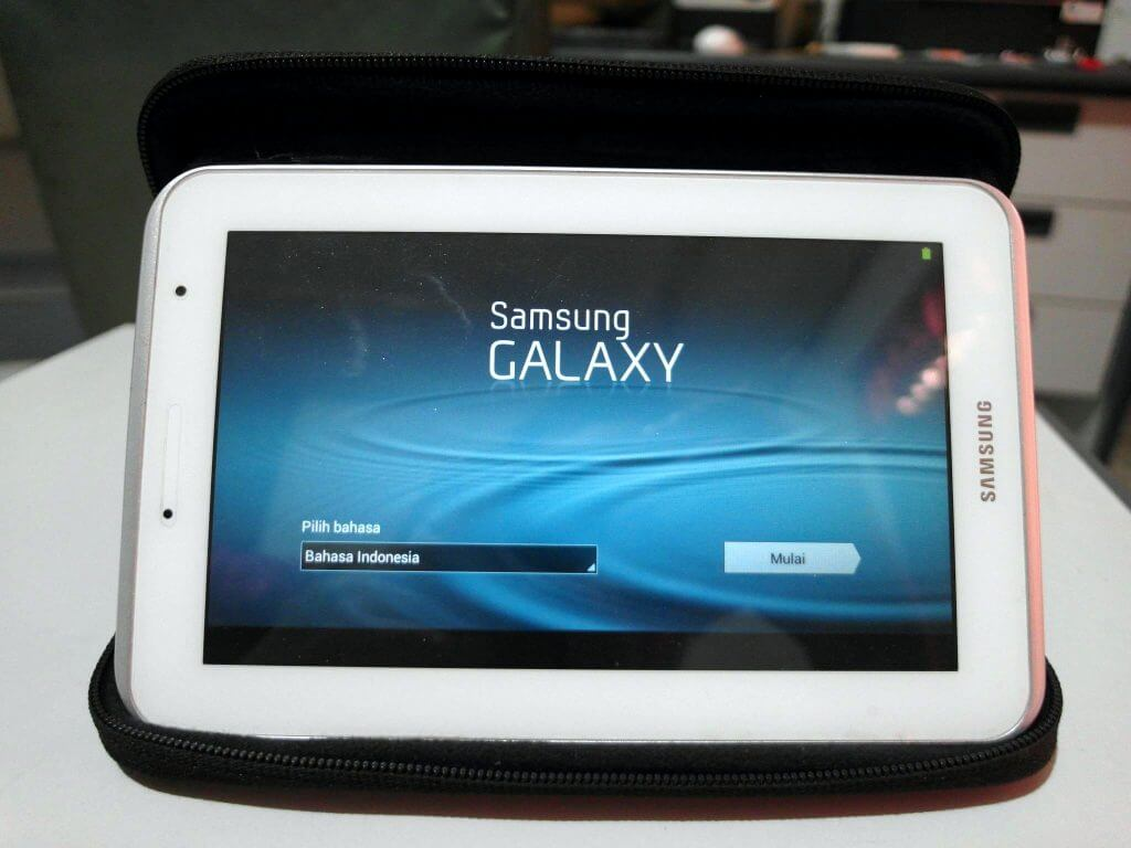 Setting Awal Perangkat Samsung Galaxy Tab 2 7.0 - tampilan awal