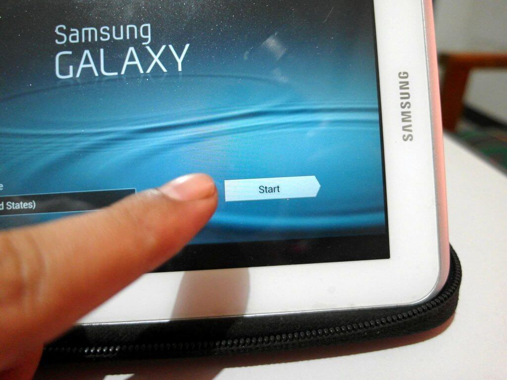 Setting Awal Perangkat Samsung Galaxy Tab 2 7.0 - mulai setting