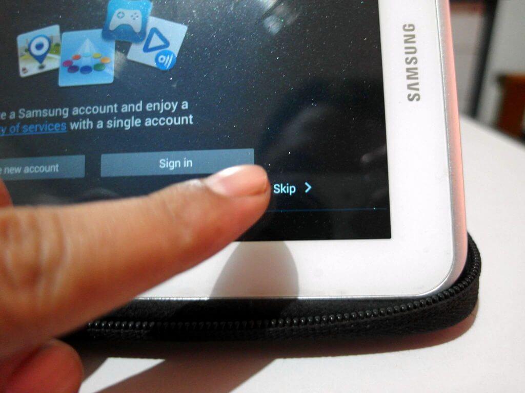 Setting awal perangkat Samsung Galaxy Tab 2 7.0 - skip Samsung Account