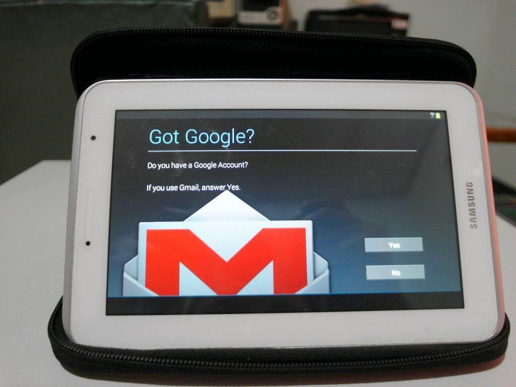 Aktivasi Samsung Galaxy Tab 2 7.0 - tampilan Google Account