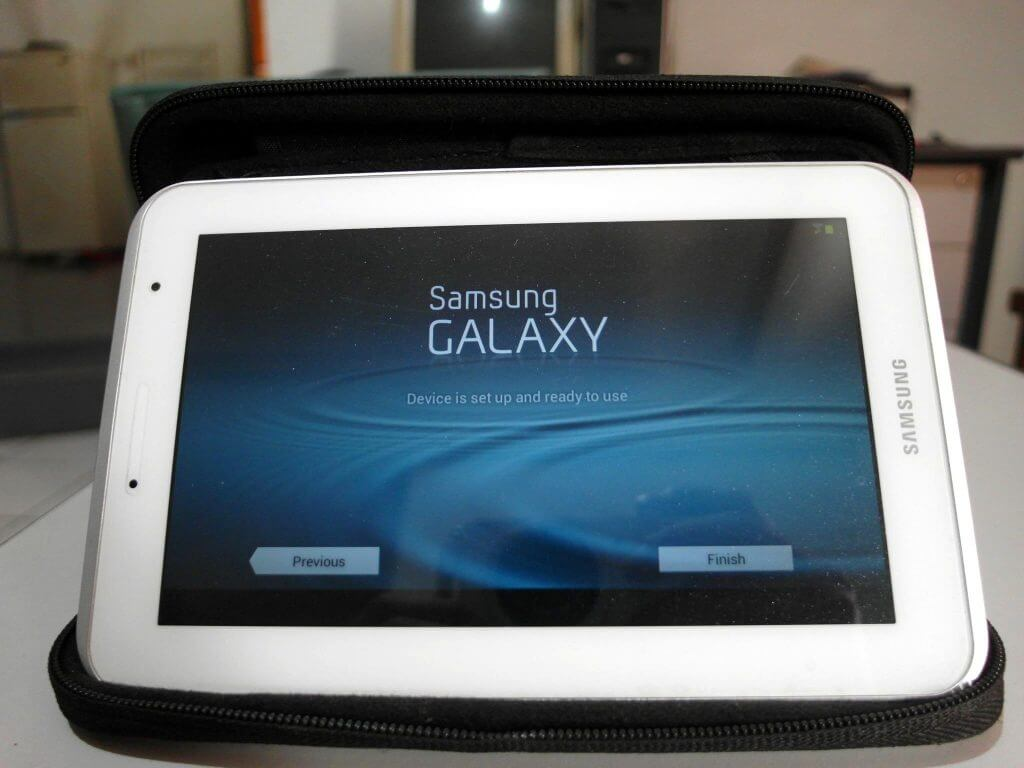Setting awal perangkat Samsung Galaxy Tab 2 7.0 - tampilan settingan selesai