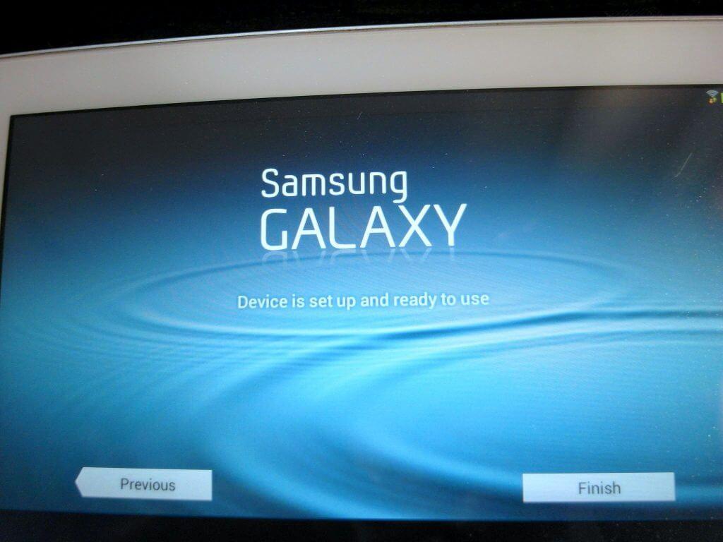 Aktivasi Samsung Galaxy Tab 2 7.0 - pilihan settingan selesai