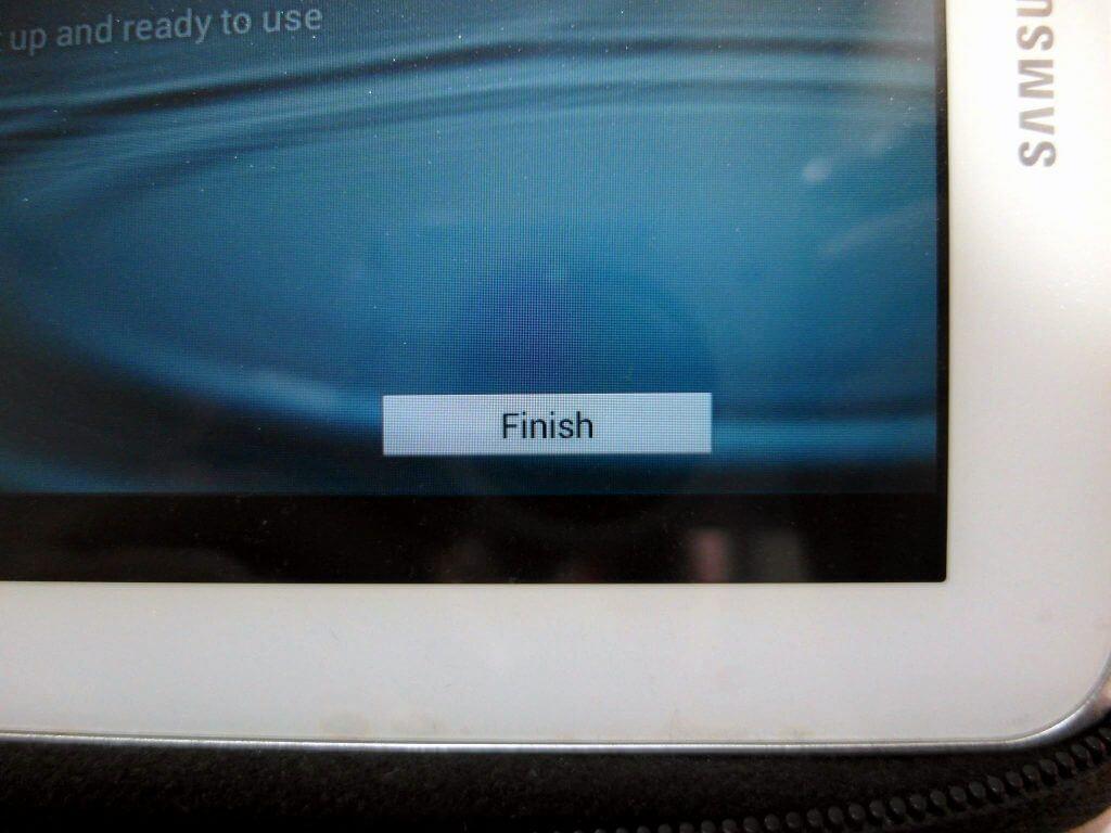 Aktivasi Samsung Galaxy Tab 2 7.0 - tombol Finish