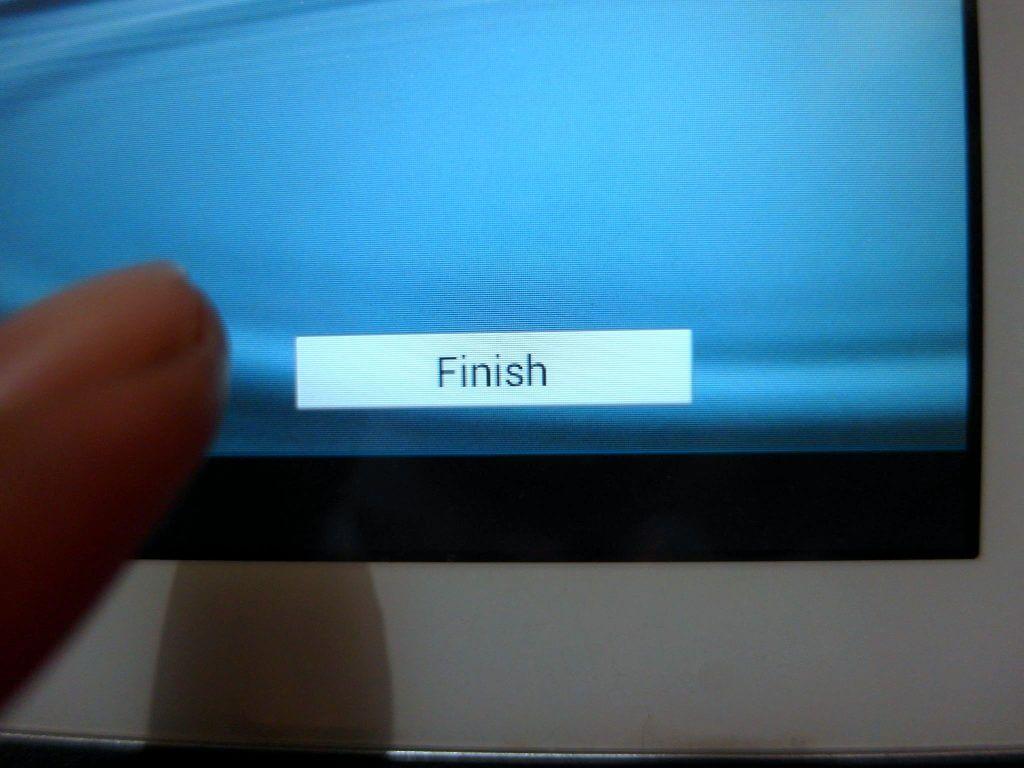Aktivasi Samsung Galaxy Tab 2 7.0 - tap tombol Finish