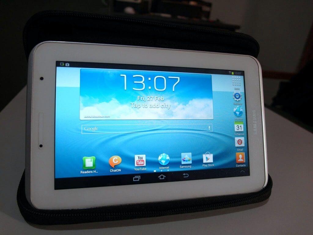Setting awal perangkat Samsung Galaxy Tab 2 7.0 - perangkat siap digunakan