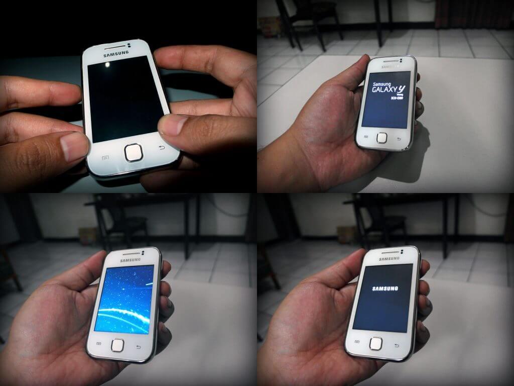 Proses menyalakan Samsung Galaxy Young CDMA (GT-i509)