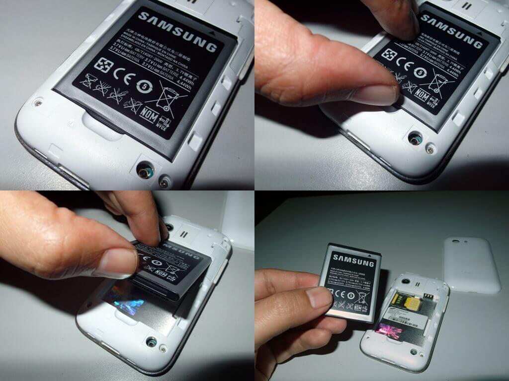 Cara melepas baterai Samsung Galaxy Young