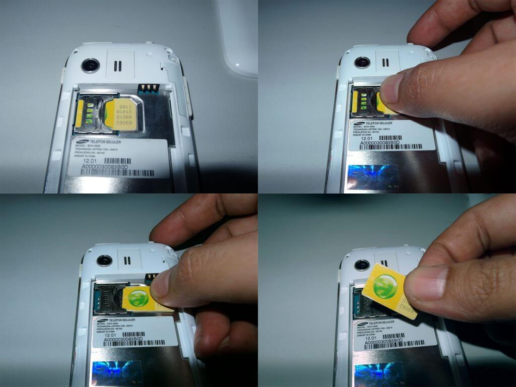 Cara melepaskan kartu seluler pada Samsung Galaxy Young