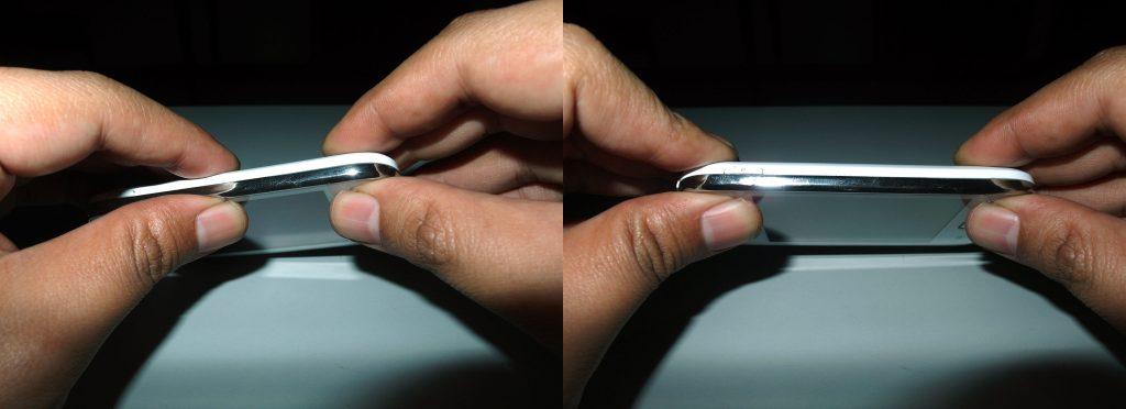 Memastikan kekencangan pemasangan casing belakang pada Samsung Galaxy Young