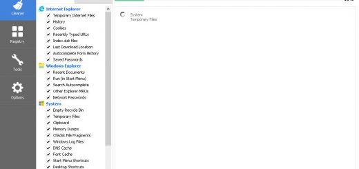 Tampilan CCleaner sedang menganalisa file-file sampah