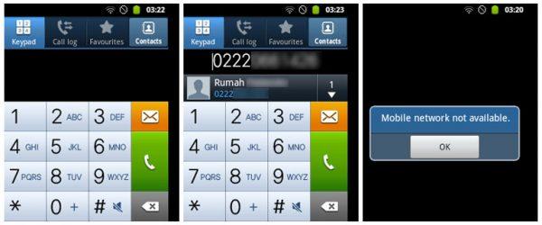 Smartphone android tidak bisa menelepon
