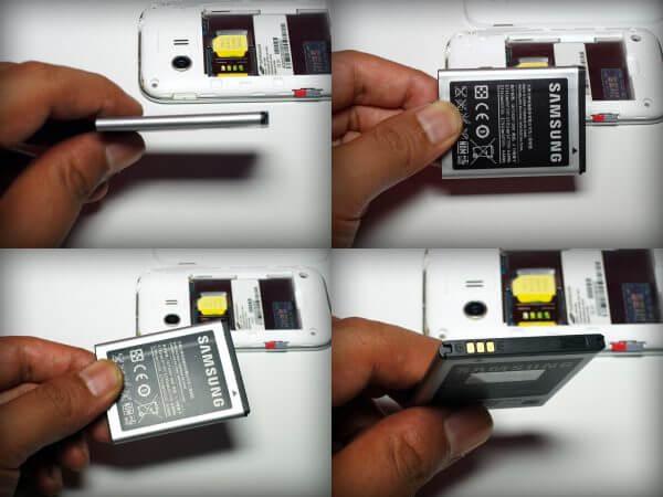 Kondisi fisik baterai Samsung Galaxy Young CDMA