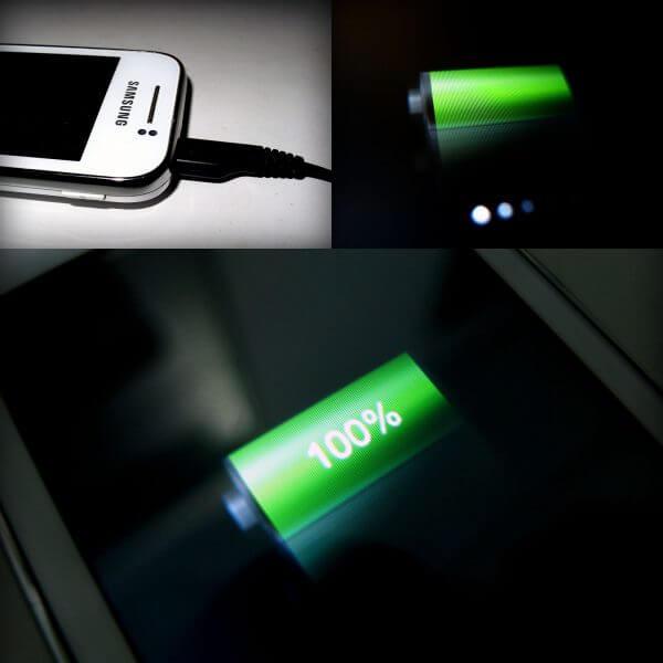 Baterai Samsung Galaxy Young CDMA di-charge sampai penuh 100%