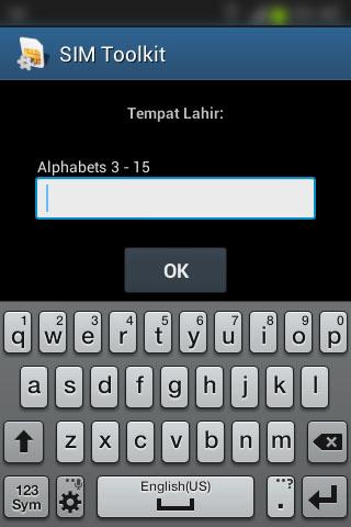 """Registrasi SIM prabayar Telkomsel - Form """"Tempat Lahir""""."""