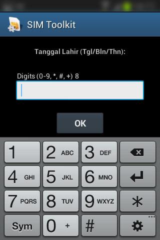 """Registrasi SIM prabayar Telkomsel - Form """"Tanggal Lahir""""."""