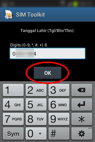 """Registrasi SIM prabayar Telkomsel - Isi """"Tanggal Lahir""""."""