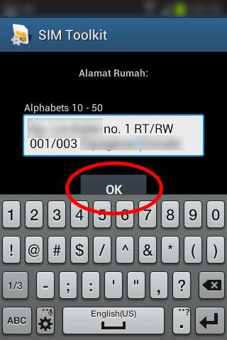 """Registrasi SIM prabayar Telkomsel - Isi """"Alamat Rumah""""."""