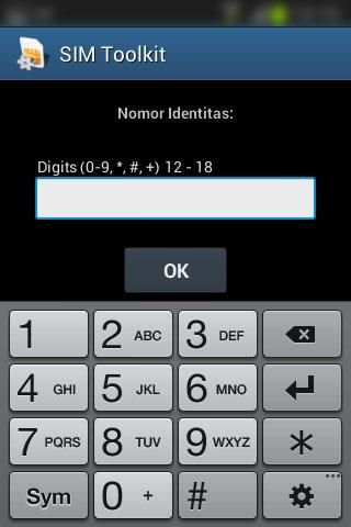 "Registrasi SIM prabayar Telkomsel - Form ""Nomor Identitas""."