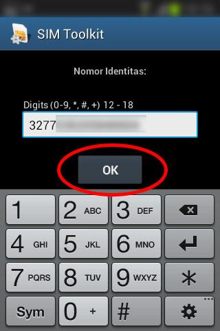 """Registrasi SIM prabayar Telkomsel - Isi """"Nomor Identitas"""" dengan nomor KTP."""