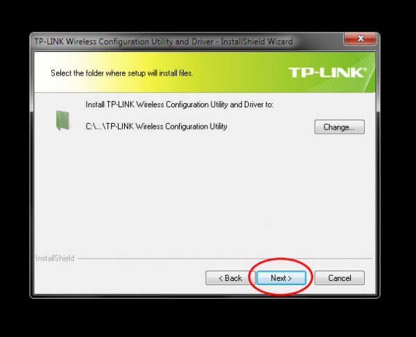 Install TP-Link Wireless Configuration Utility and Driver TL-WN-823N V1 - Setup folder