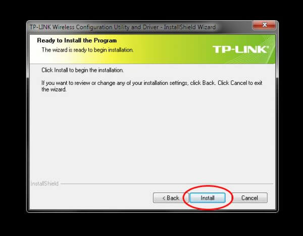 Install TP-Link Wireless Configuration Utility and Driver TL-WN-823N V1 - Ready to Install