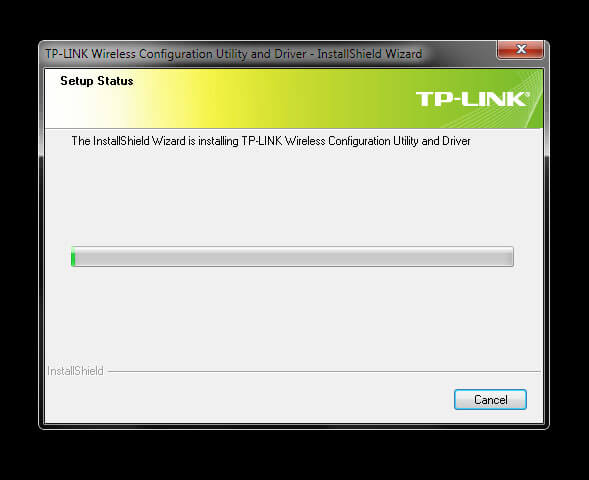 Install TP-Link Wireless Configuration Utility and Driver TL-WN-823N V1 - Begin installing