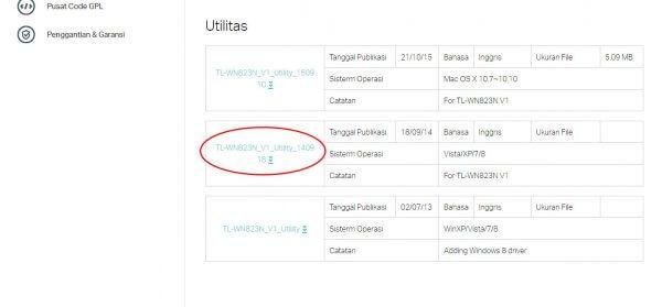 TP-Link TL-WN823N V1 - download Utilitas (Windows)