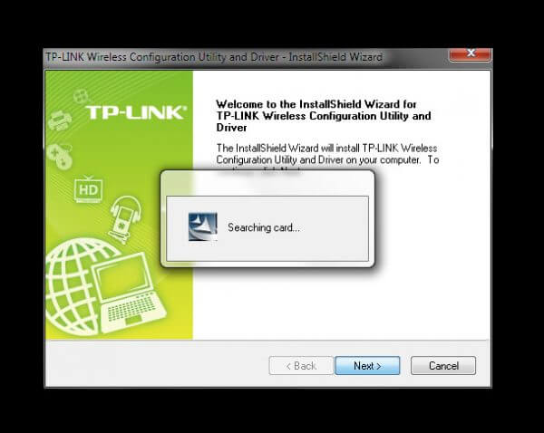 "TP-Link TL-WN823N V1 - Utility Driver Installer ""Searching card..."""