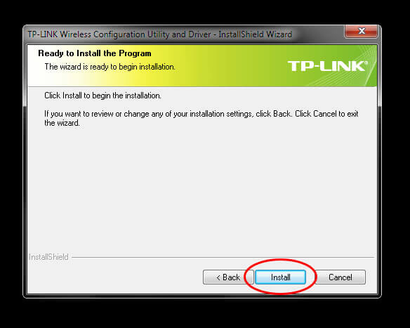 "TP-Link TL-WN823N V1 - Utility Driver Installer ""Ready to Install"""