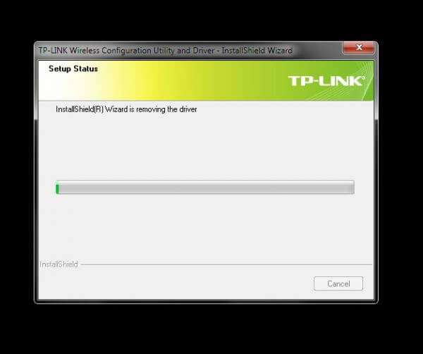 Uninstall TP-Link Wireless Configuration Utility and Driver TL-WN-823N V1 - uninstalling