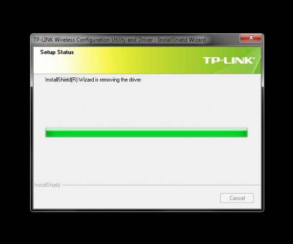 Uninstall TP-Link Wireless Configuration Utility and Driver TL-WN-823N V1 - uninstalling progress