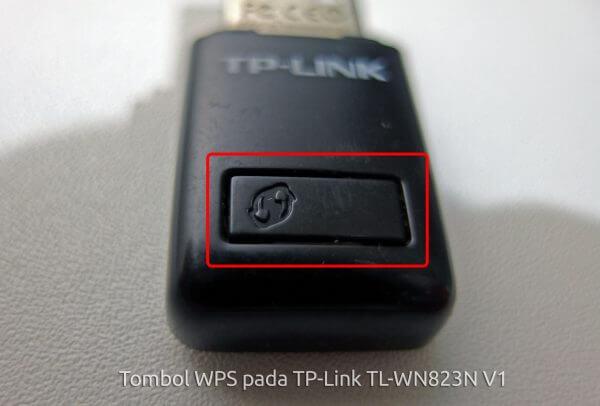 Tombol WPS pada TP-Link TL-WN823N V1