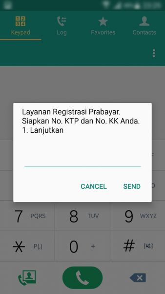 Registrasi Ulang Kartu SIM Prabayar - menu Layanan Registrasi Prabayar