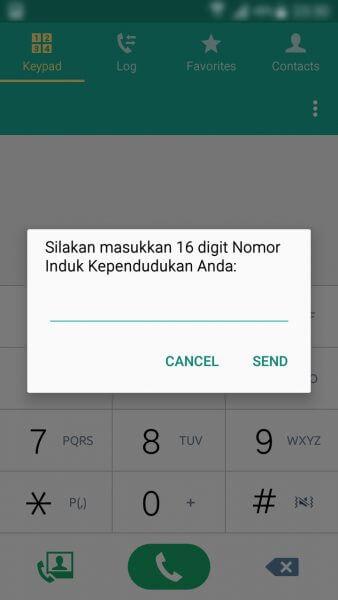 Registrasi Ulang Kartu SIM Prabayar - form Nomor Induk Kependudukan atau nomor KTP
