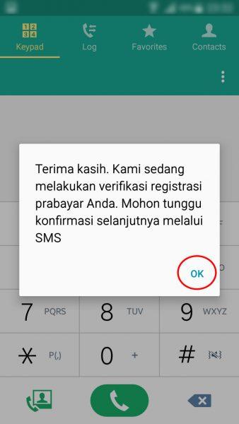 Registrasi Ulang Kartu SIM Prabayar - notifikasi registrasi selesai